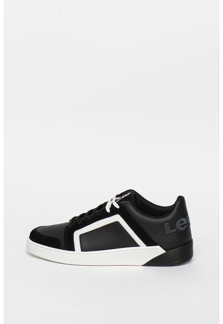 Pantofi sport de piele ecologica cu garnituri contrastante Mullet S 2.0