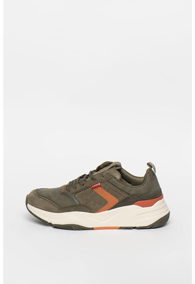 Pantofi sport de piele intoarsa si piele ecologica Eastman imagine