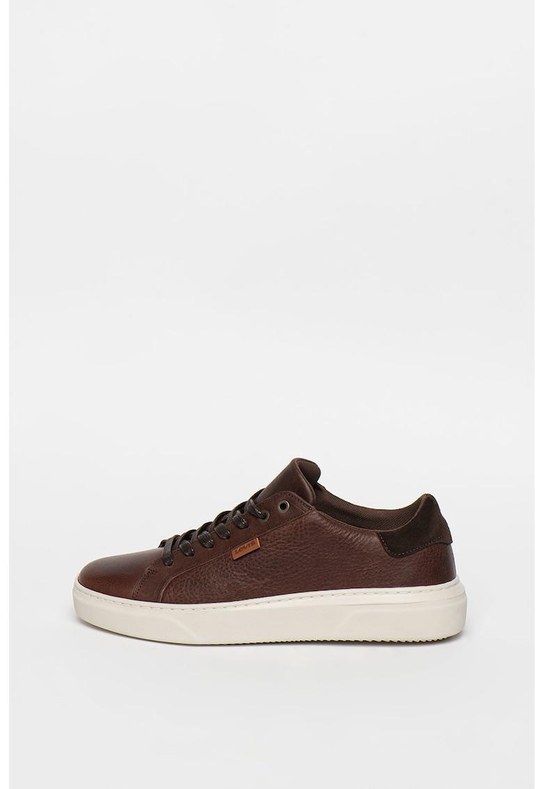 Pantofi sport de piele cu garnitura de piele intoarsa Briones