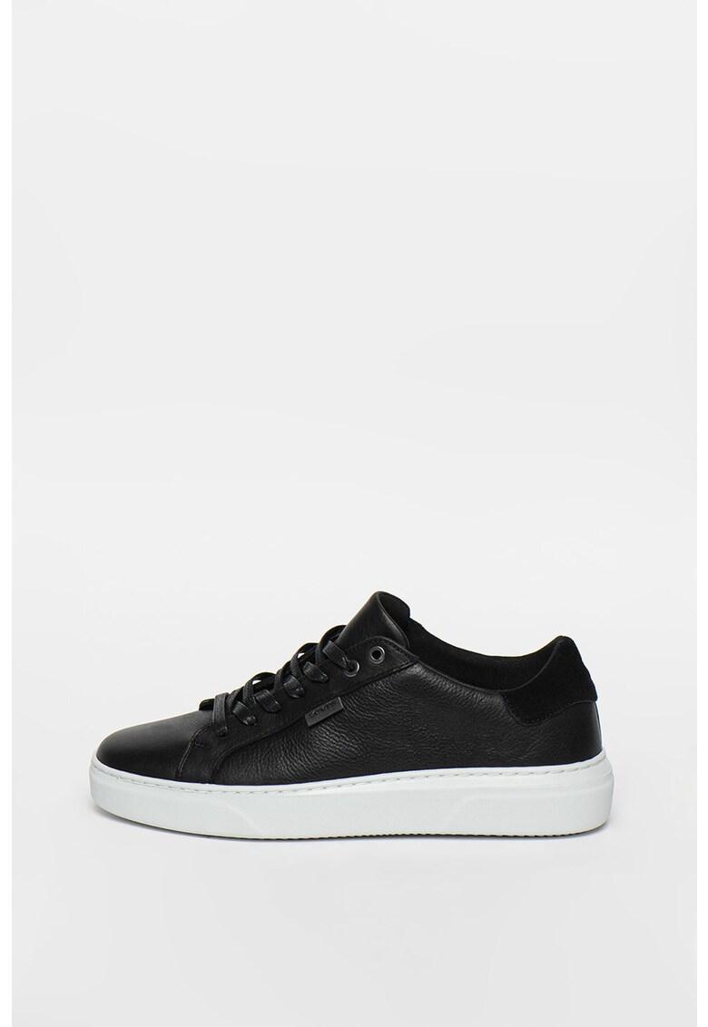 Pantofi sport de piele cu garnitura de piele intoarsa Briones imagine