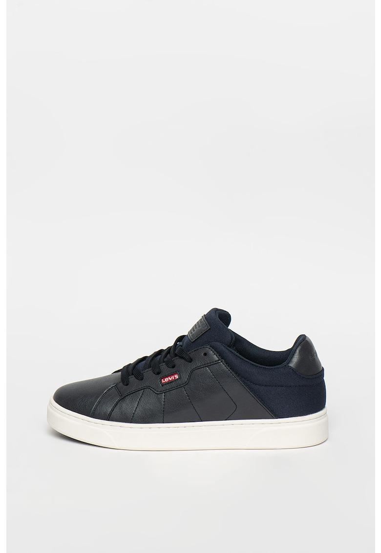 Pantofi sport de piele ecologica si material textil Caples