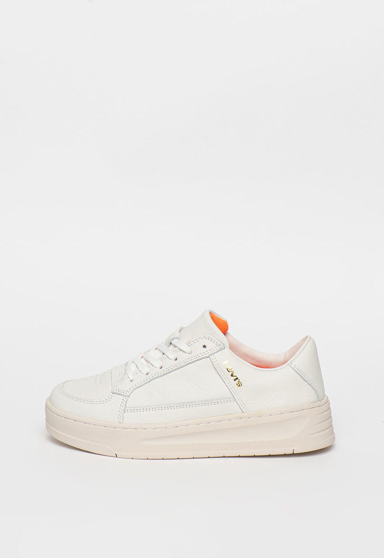 Pantofi sport de piele cu detalii perforate