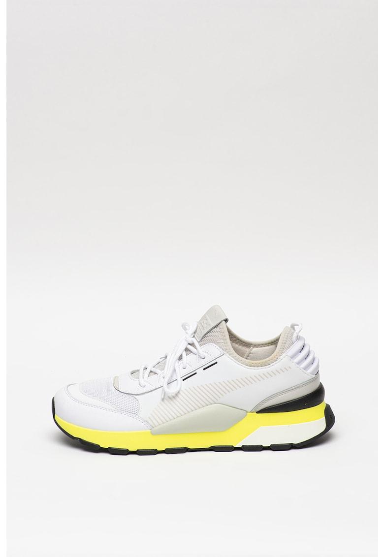 Pantofi sport de piele cu insertii de plasa Tracks