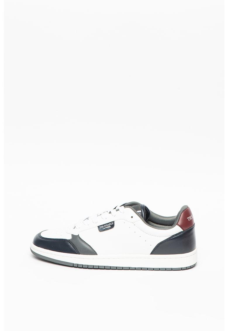 - Pantofi sport de piele ecologica Scinus imagine fashiondays.ro Trussardi