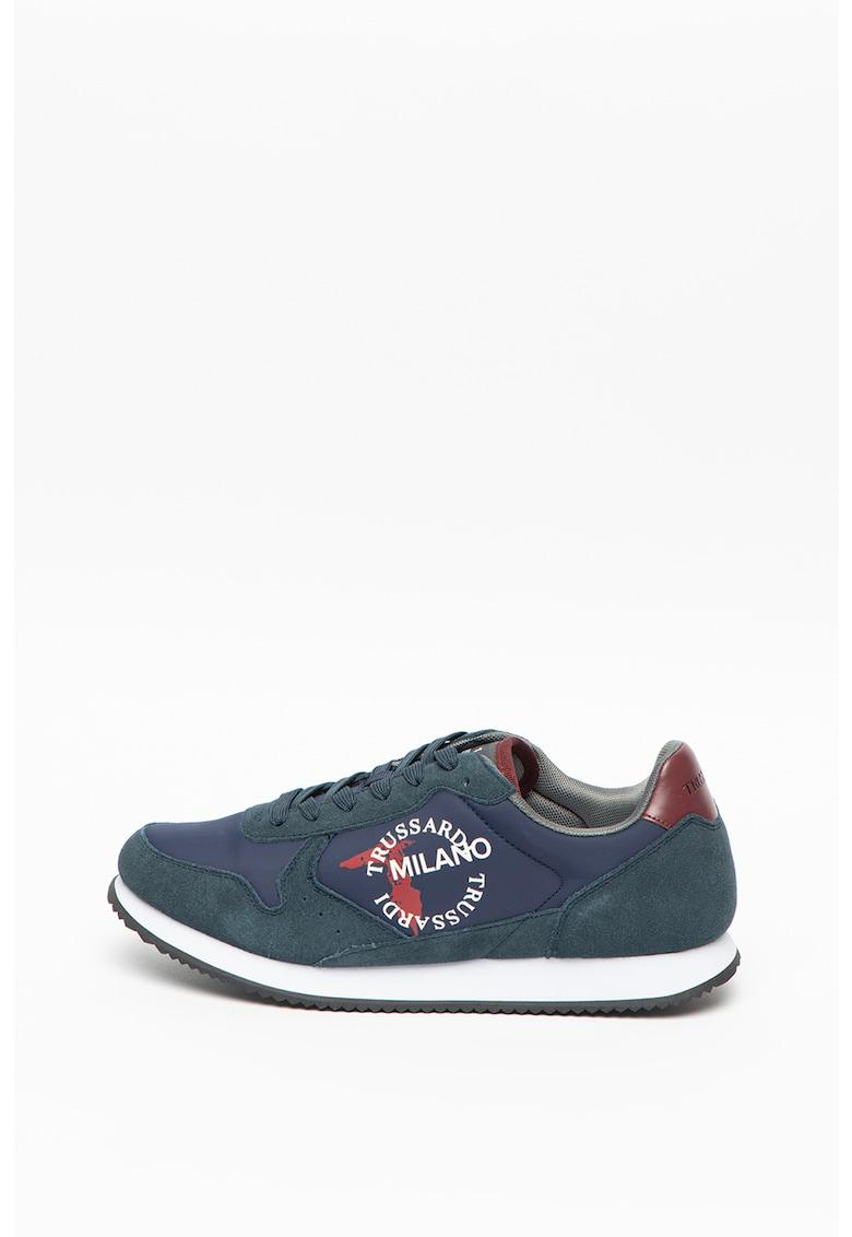 Pantofi sport cu insertii de piele Abax imagine promotie