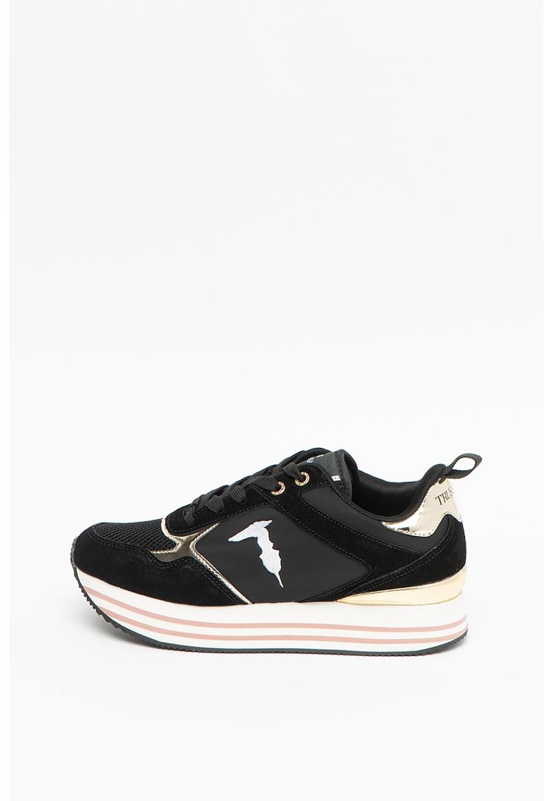 Pantofi sport cu insertii de piele Celtik