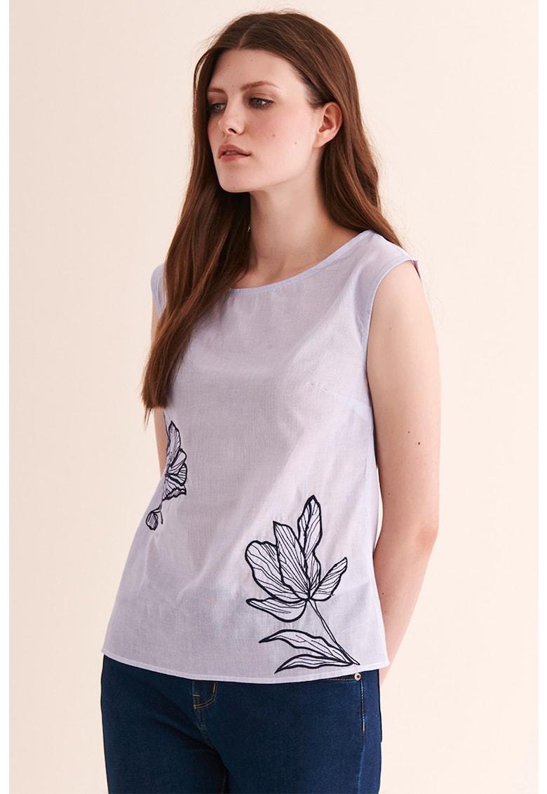 Bluza cu broderie florala Annica imagine