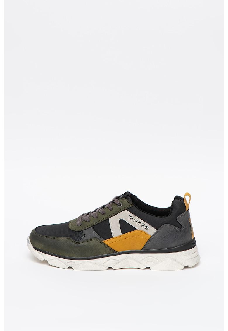 Pantofi sport low-cut de piele ecologica