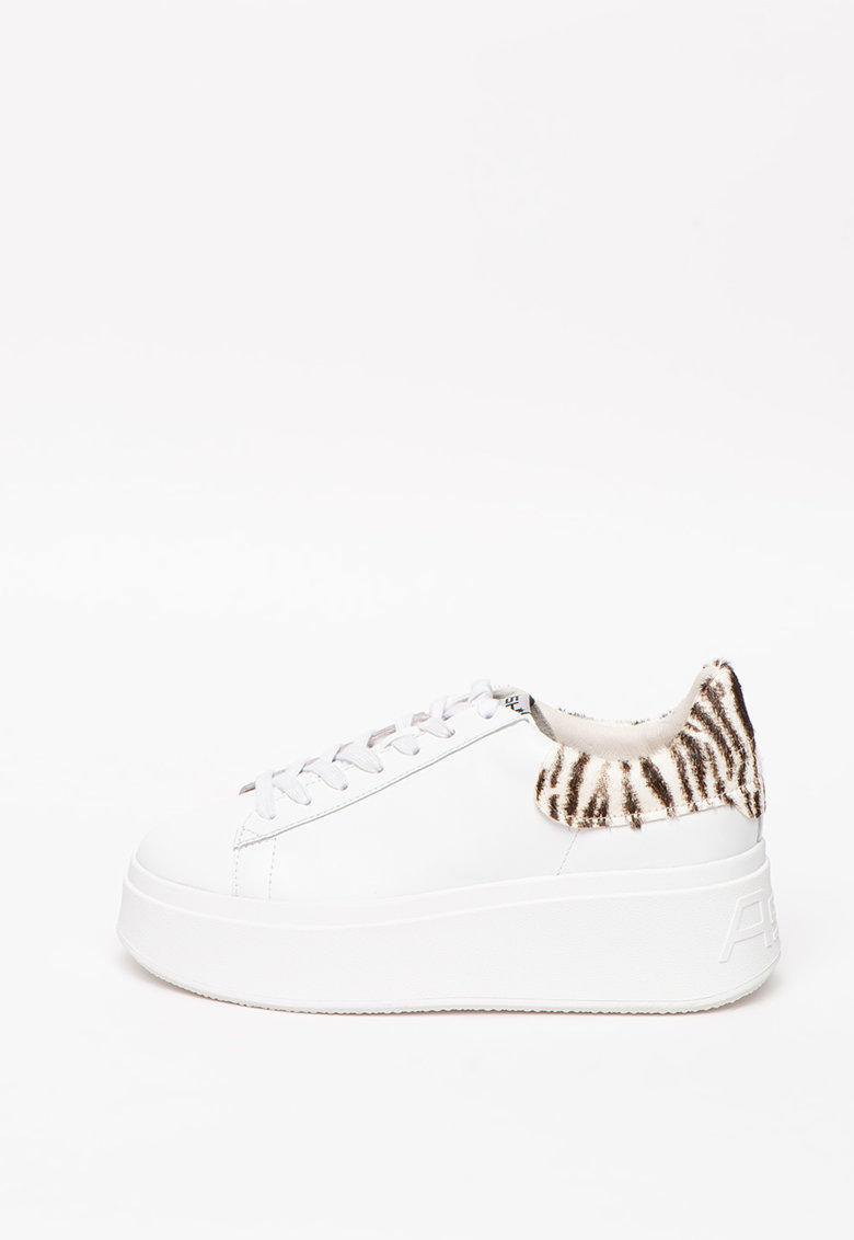 Pantofi sport wedge de piele Moby