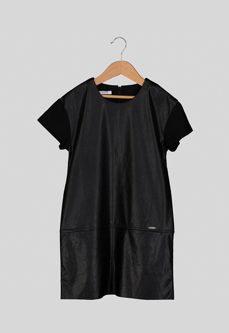Rochie cu insertii din piele ecologica Liu-Jo
