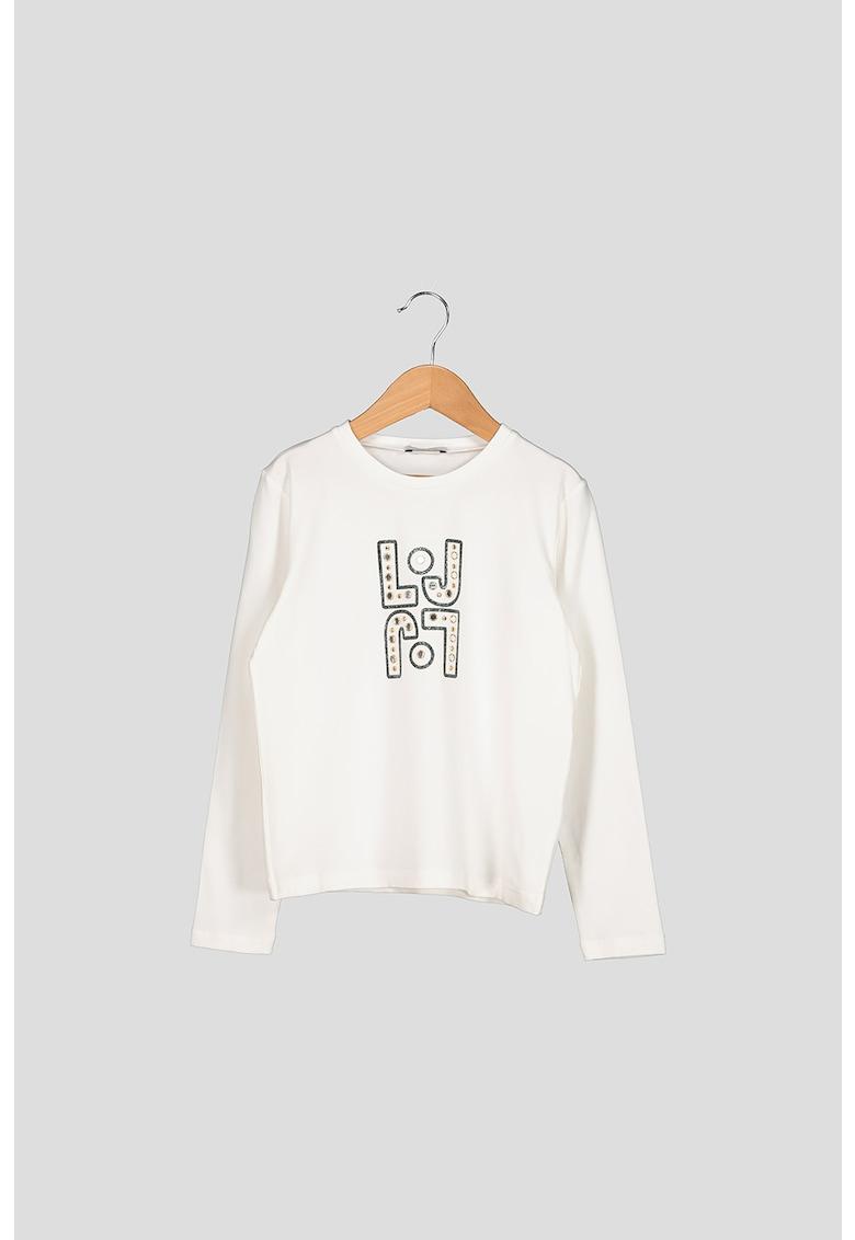Bluza cu aplicatie logo Liu-Jo imagine 2021