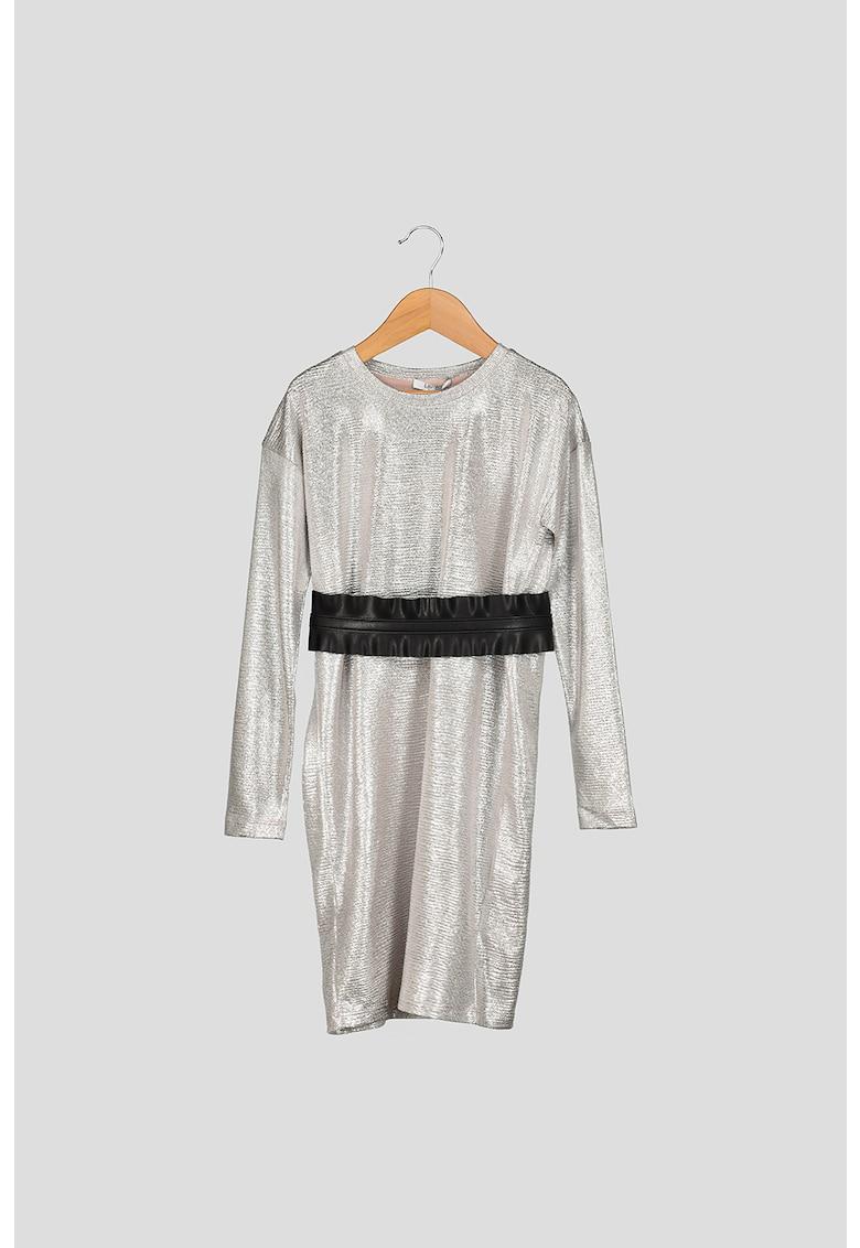 Rochie cu maneci cazute si aspect metalizat Liu-Jo