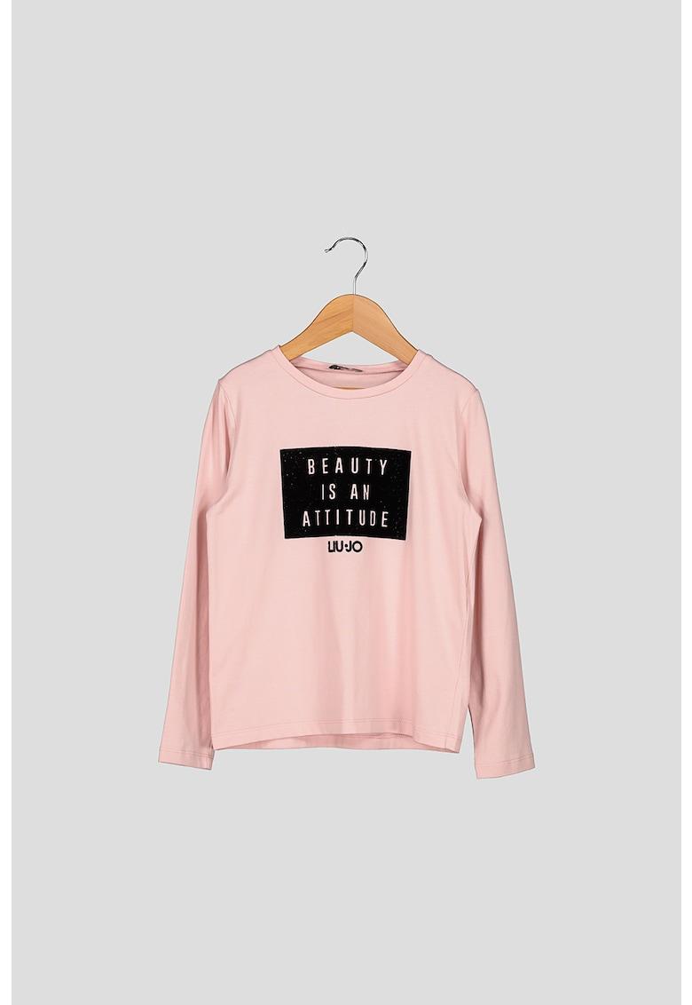 Bluza cu imprimeu text imagine