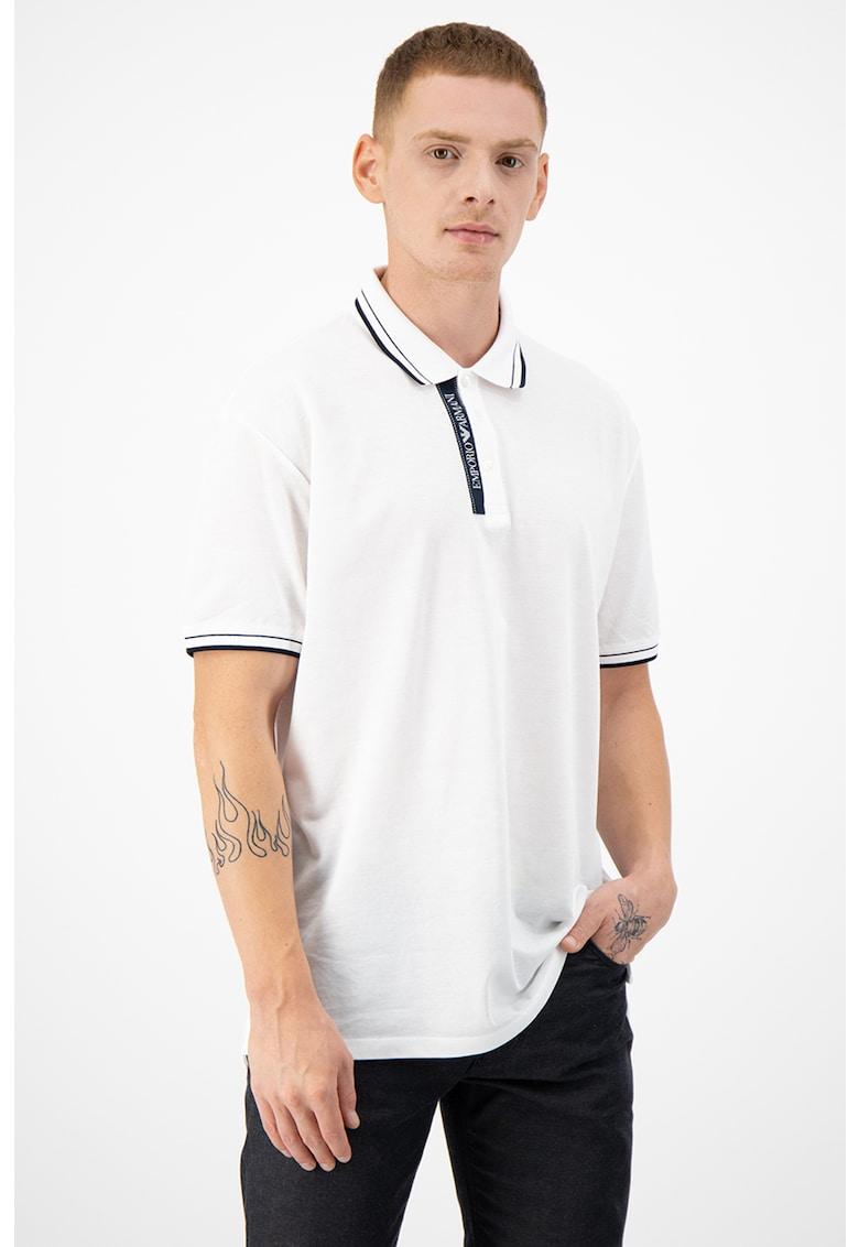 Tricou polo de bumbac - cu logo Bărbați imagine