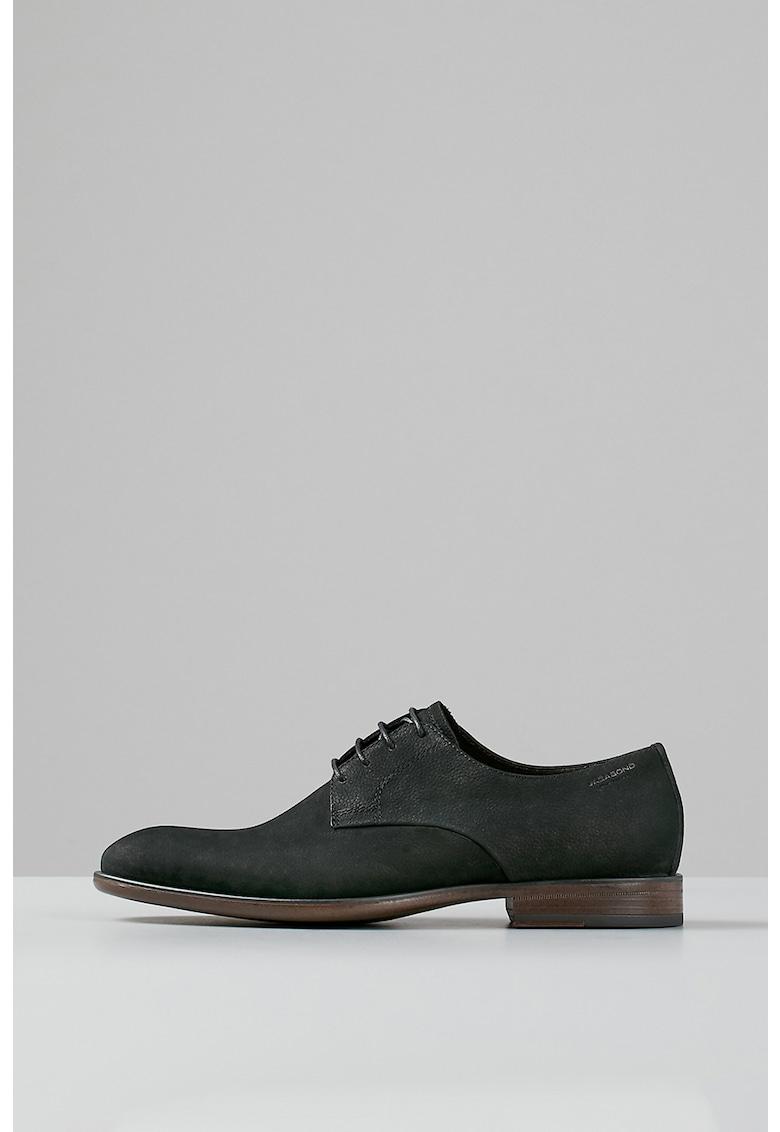 Pantofi Derby din piele nabuc Harvey imagine