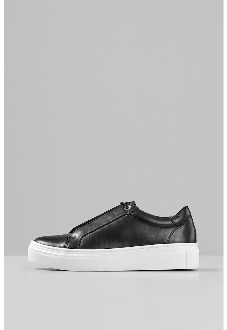 Pantofi sport flatform de piele Zoe imagine