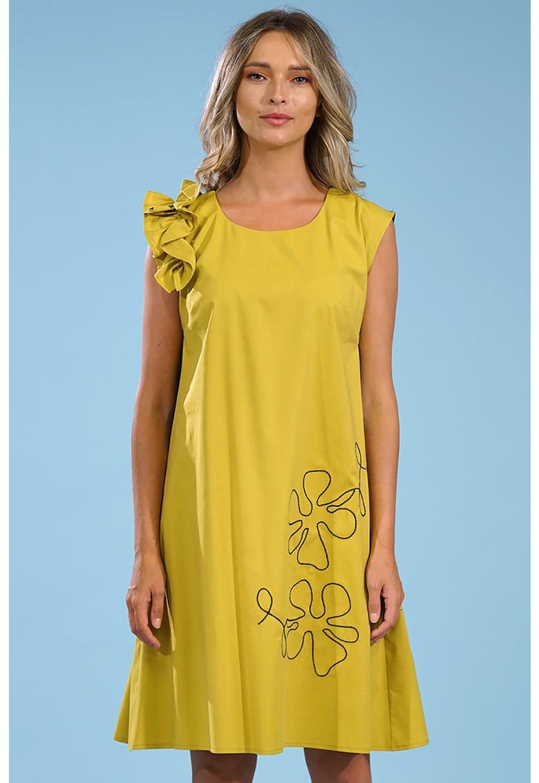 Rochie mini lejera cu fronseu Format Lady fashiondays.ro