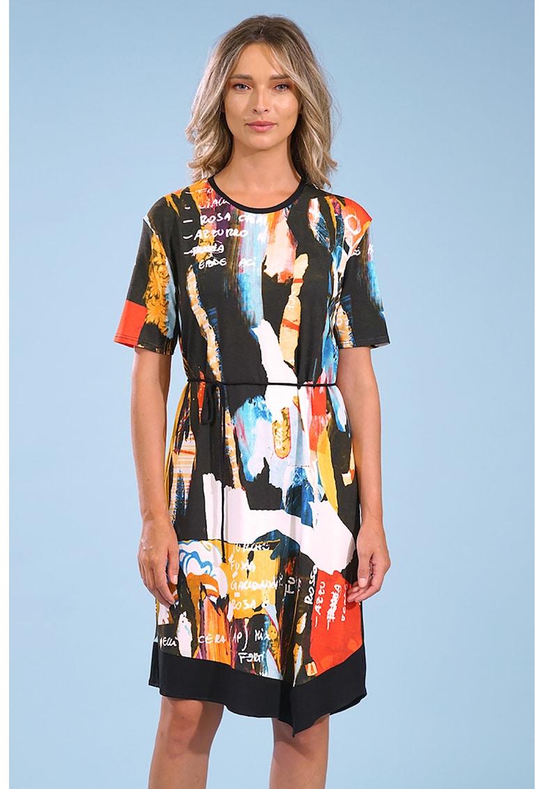 Rochie mini cu imprimeu grafic