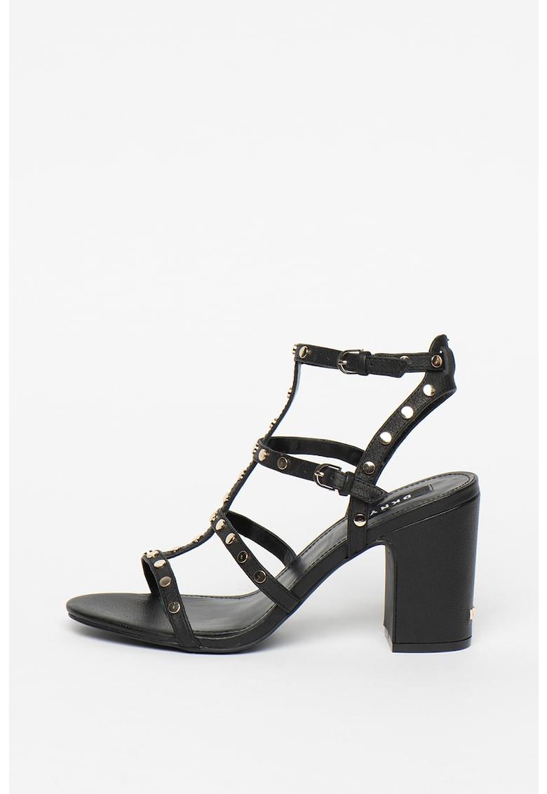 Sandale de piele cu toc masiv Hanz