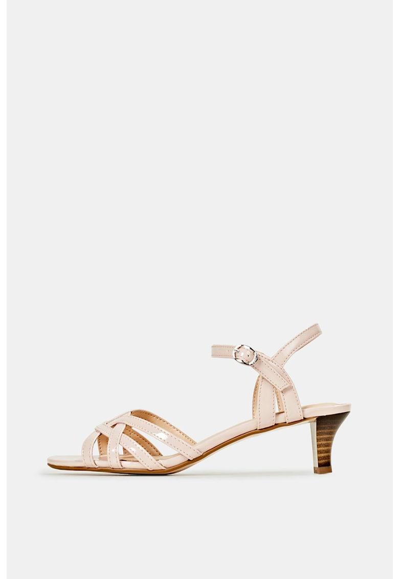 Sandale de piele ecologica cu barete multiple imagine fashiondays.ro