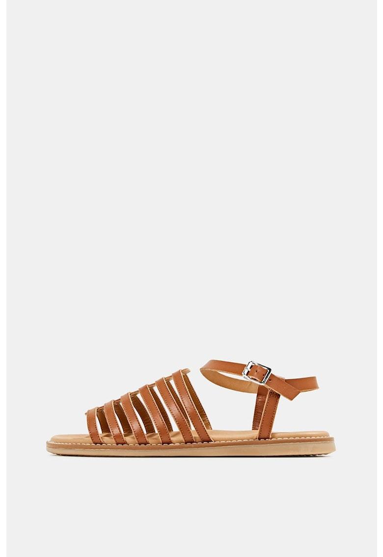 Sandale de piele cu barete multiple