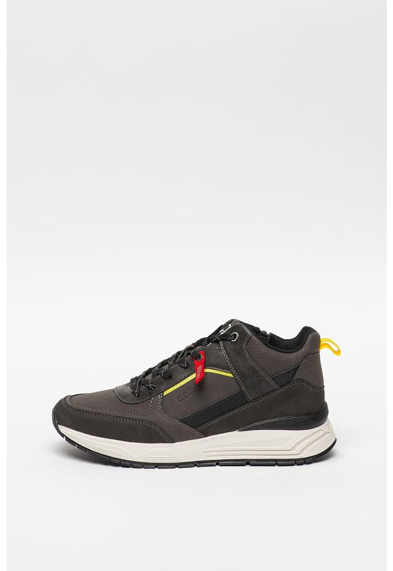 Pantofi sport mid-high de piele ecologica