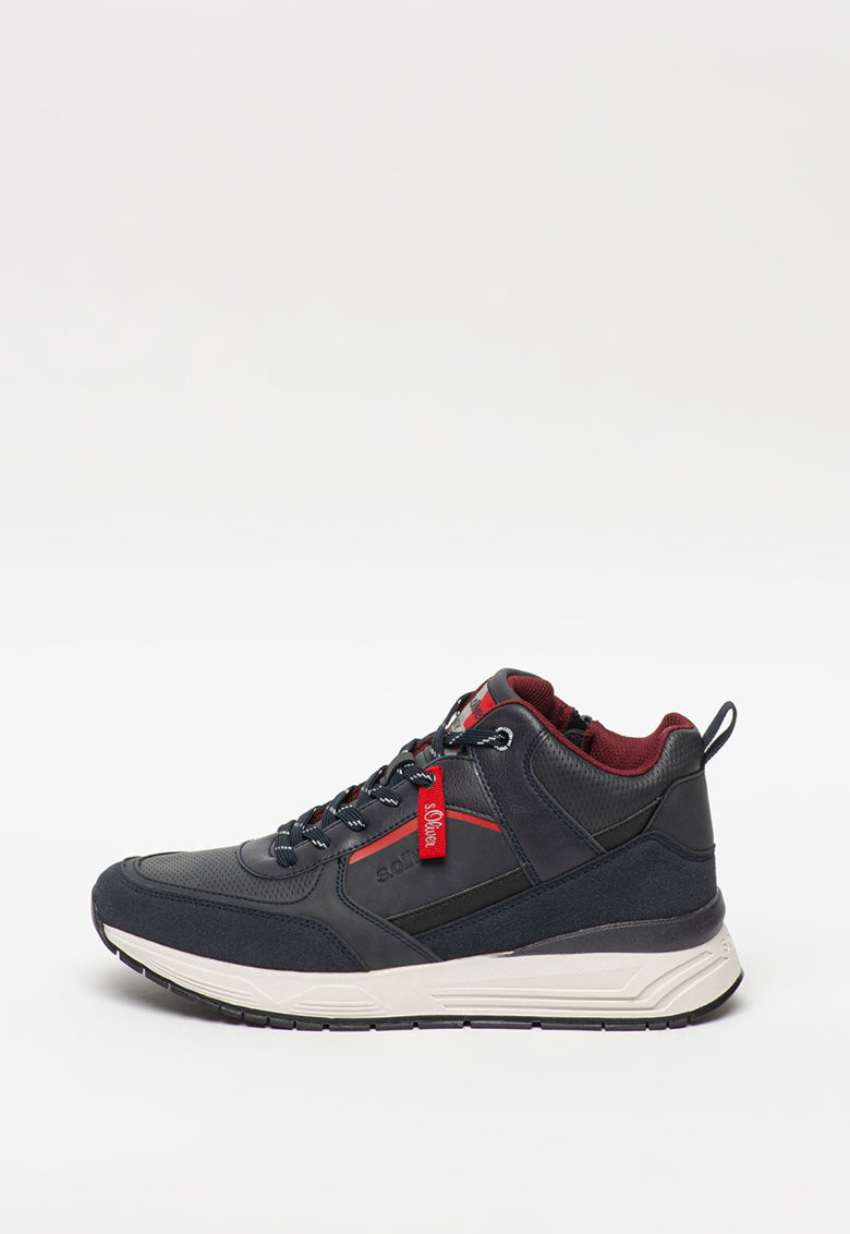Pantofi sport mid-high de piele ecologica s.Oliver fashiondays.ro