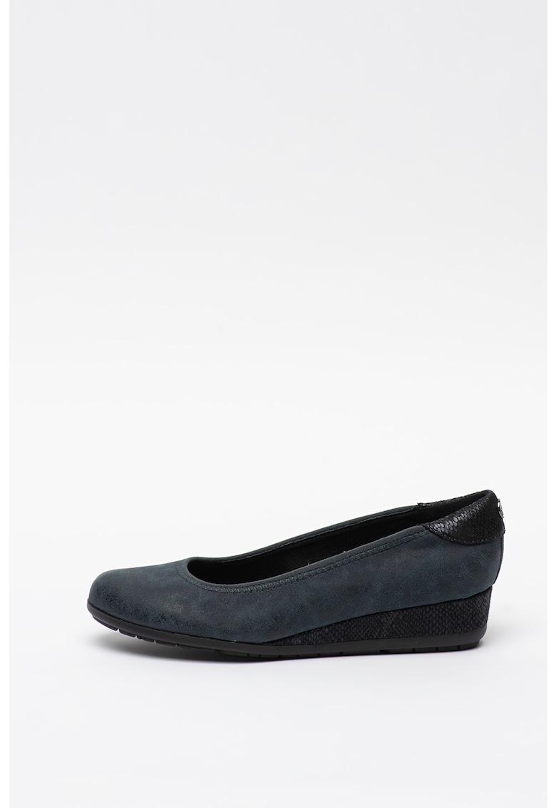 Pantofi wedge din piele ecologica imagine fashiondays.ro