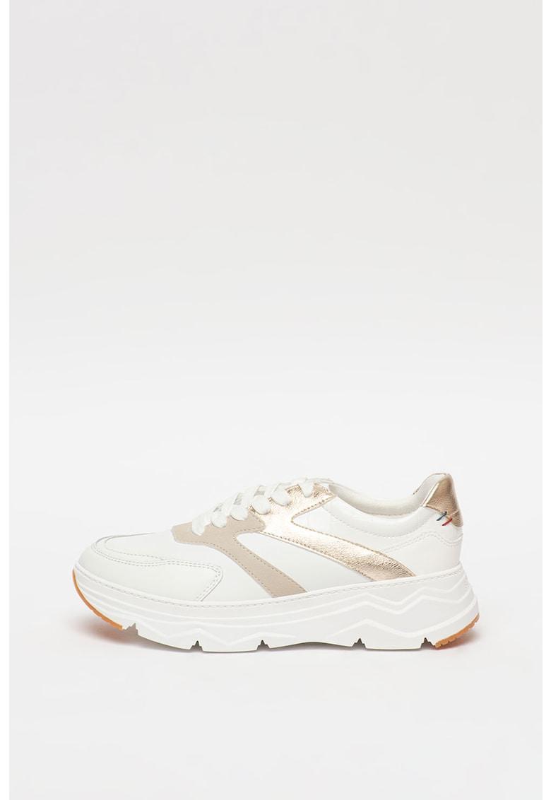 Pantofi sport de piele cu garnituri de piele ecologica poza fashiondays