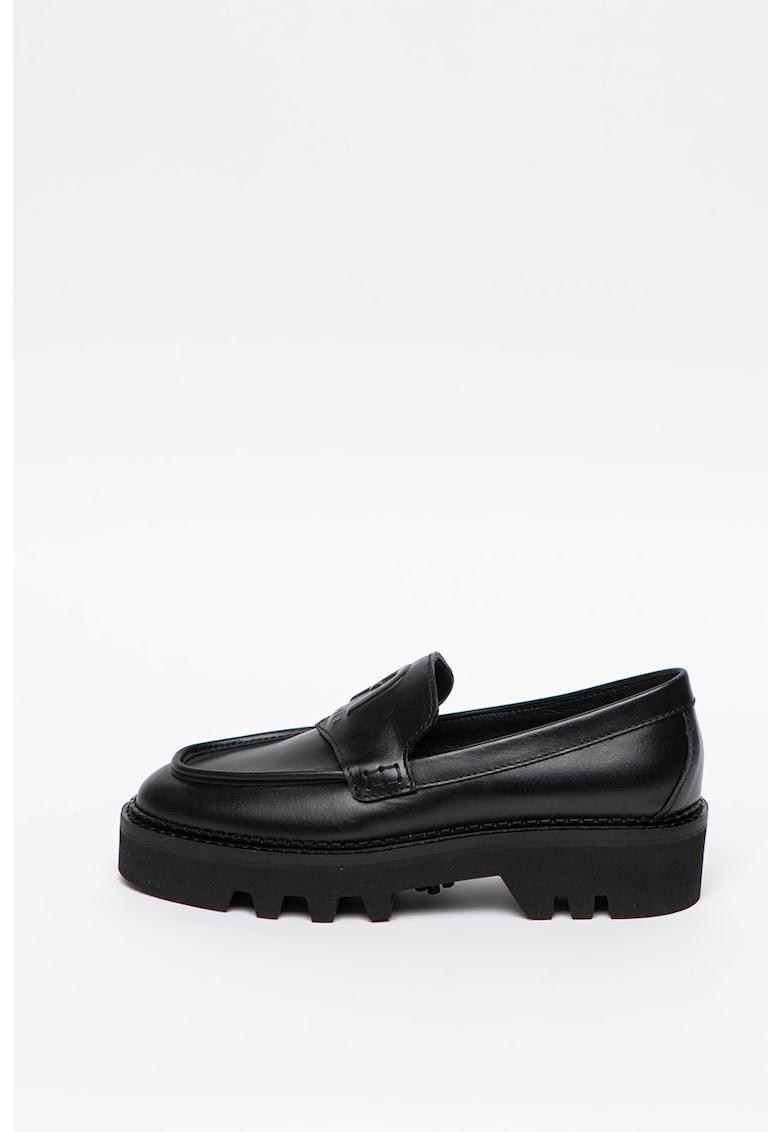 Pantofi loafer de piele cu talpa masiva Rita imagine
