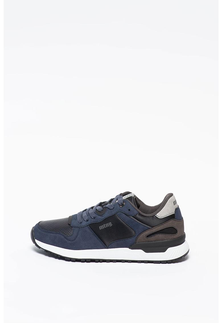 Pantofi sport din piele ecologica si material textil
