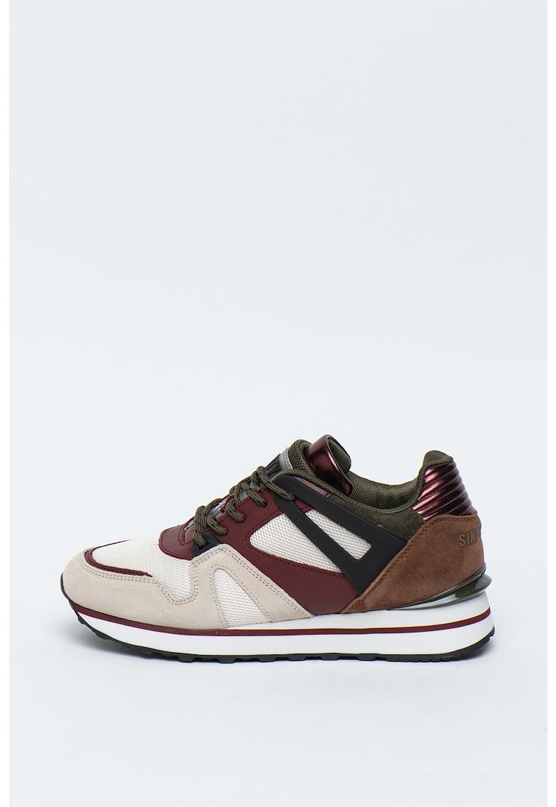 Pantofi sport de piele si material textil GOLDEN
