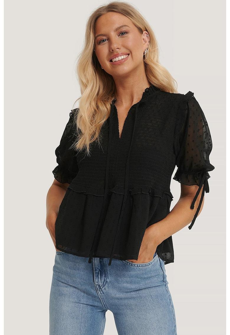 Bluza cu buline si maneci semitransparente Swiss imagine