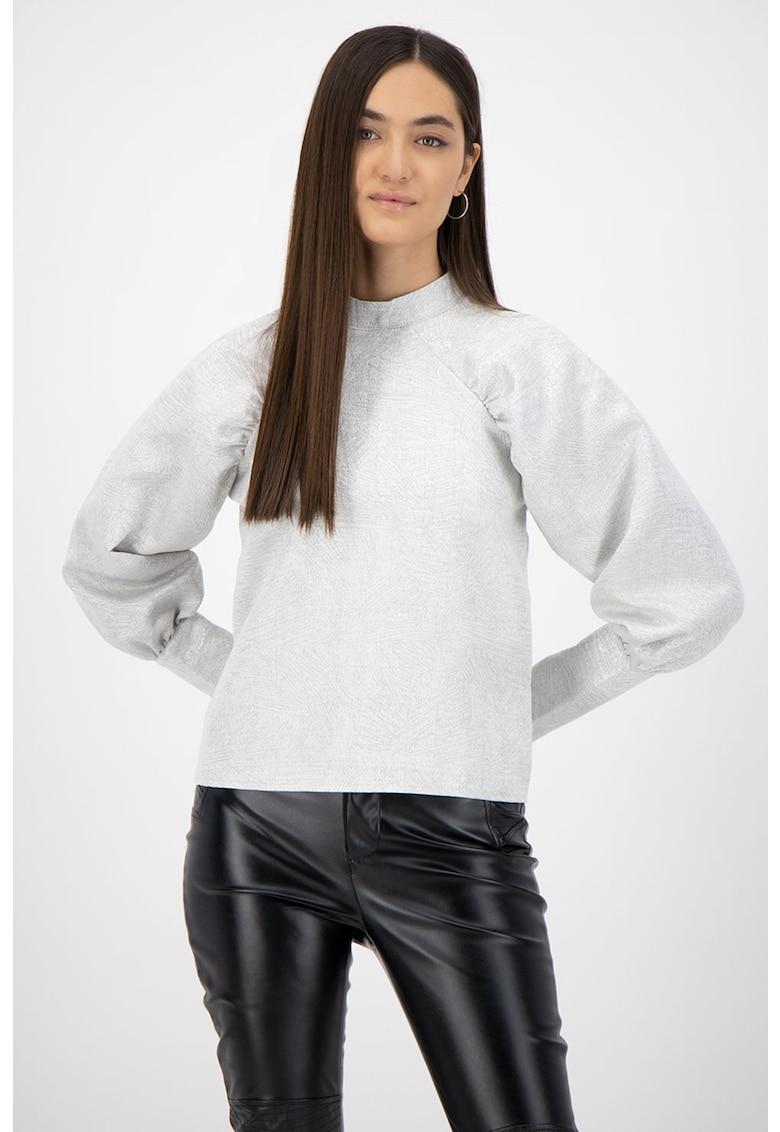 Bluza cu imprimeu si maneci bufante imagine