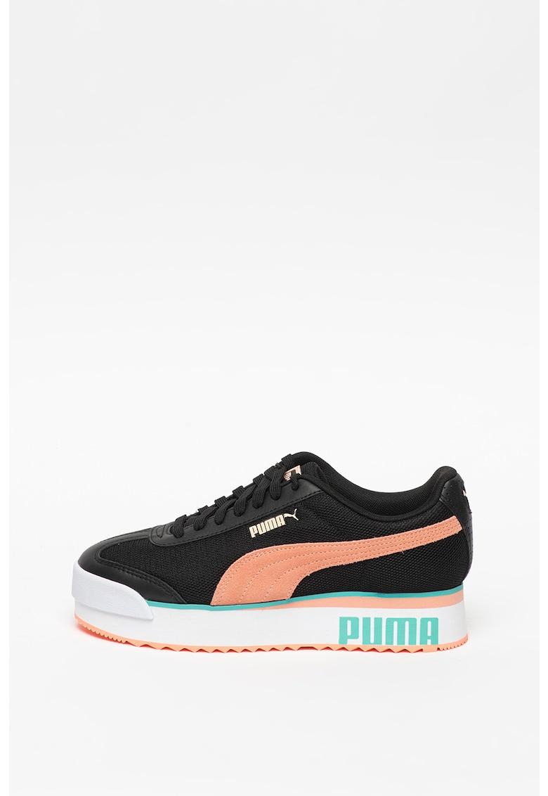 Pantofi sport cu insertii de piele Roma Amor