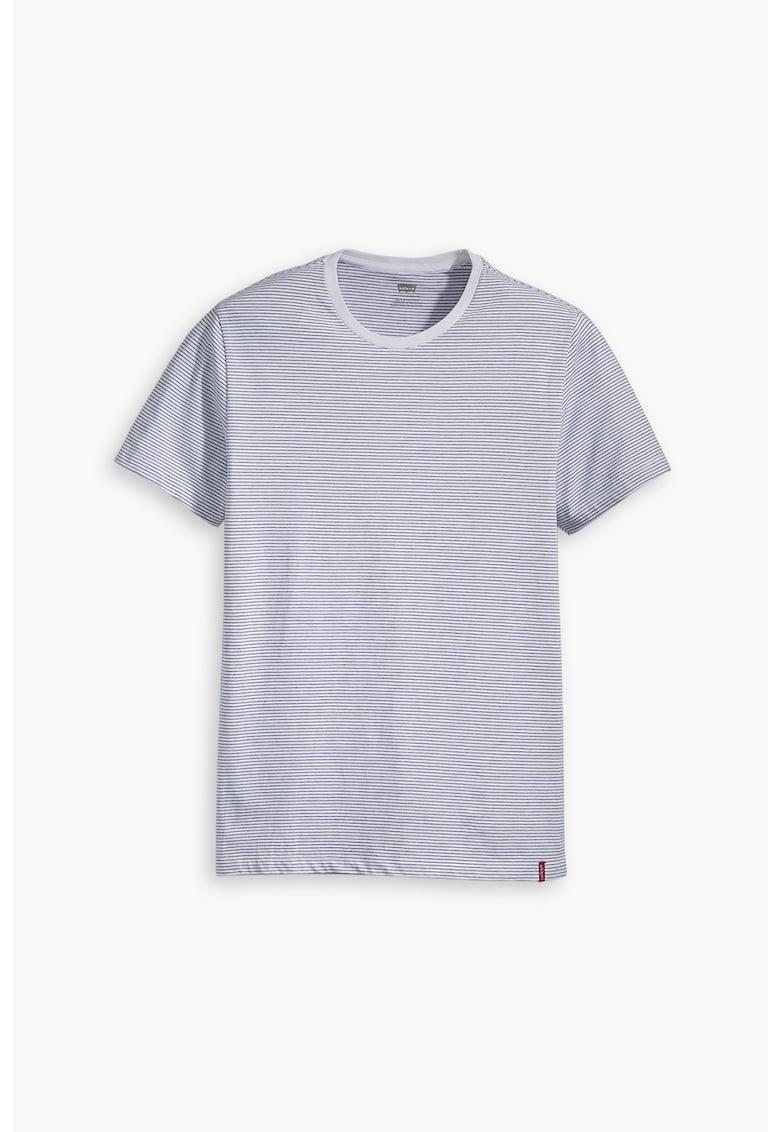 Set de tricouri slim fit cu decolteu la baza gatului - 2 perechi c imagine