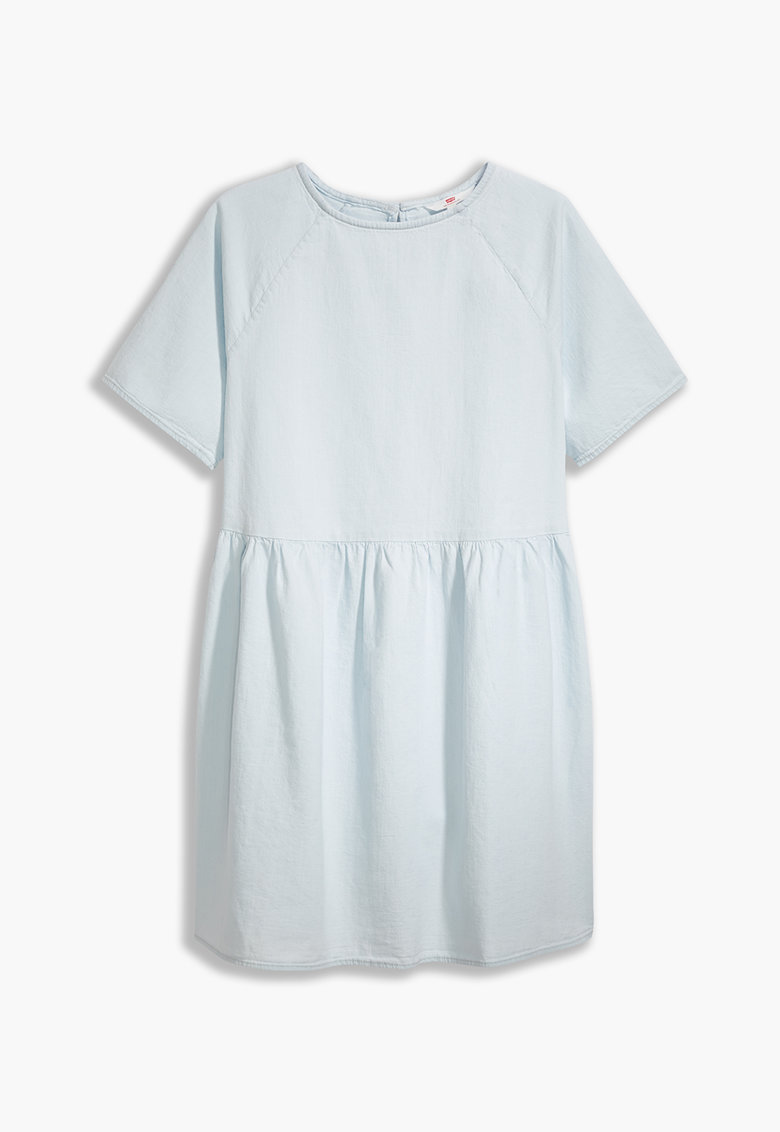 Rochie din chambray cu maneci raglan