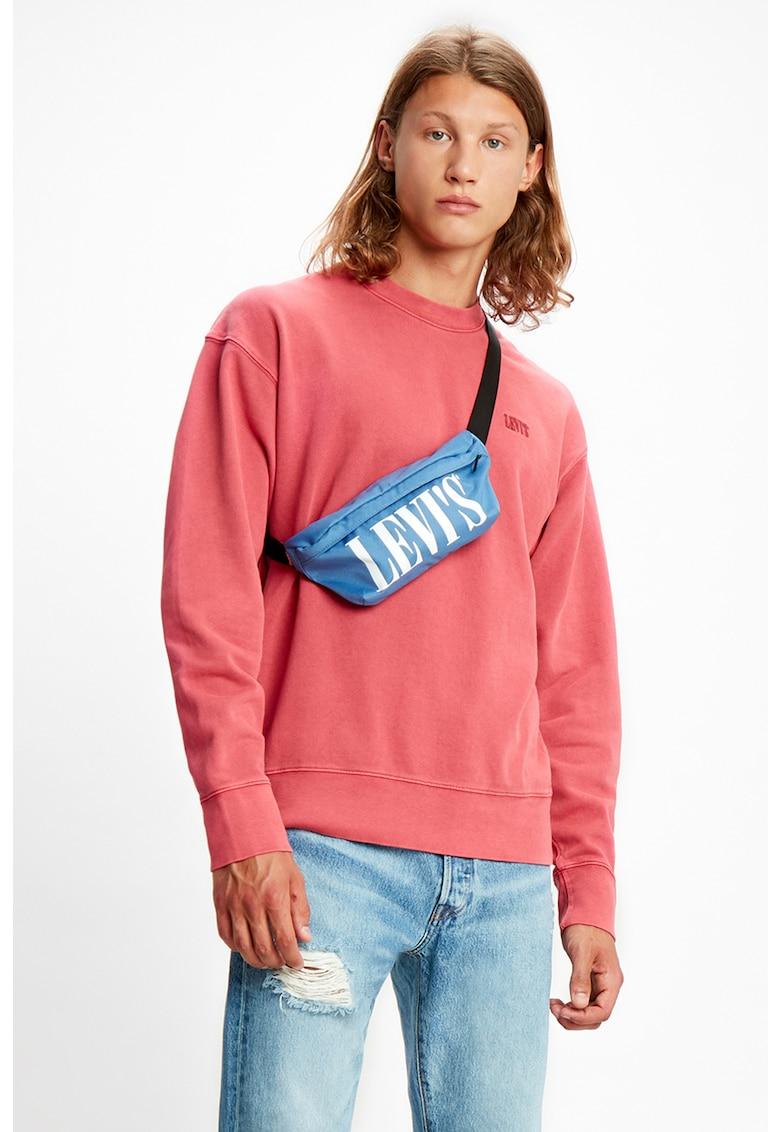 Bluza sport de bumbac cu decolteu la baza gatului imagine