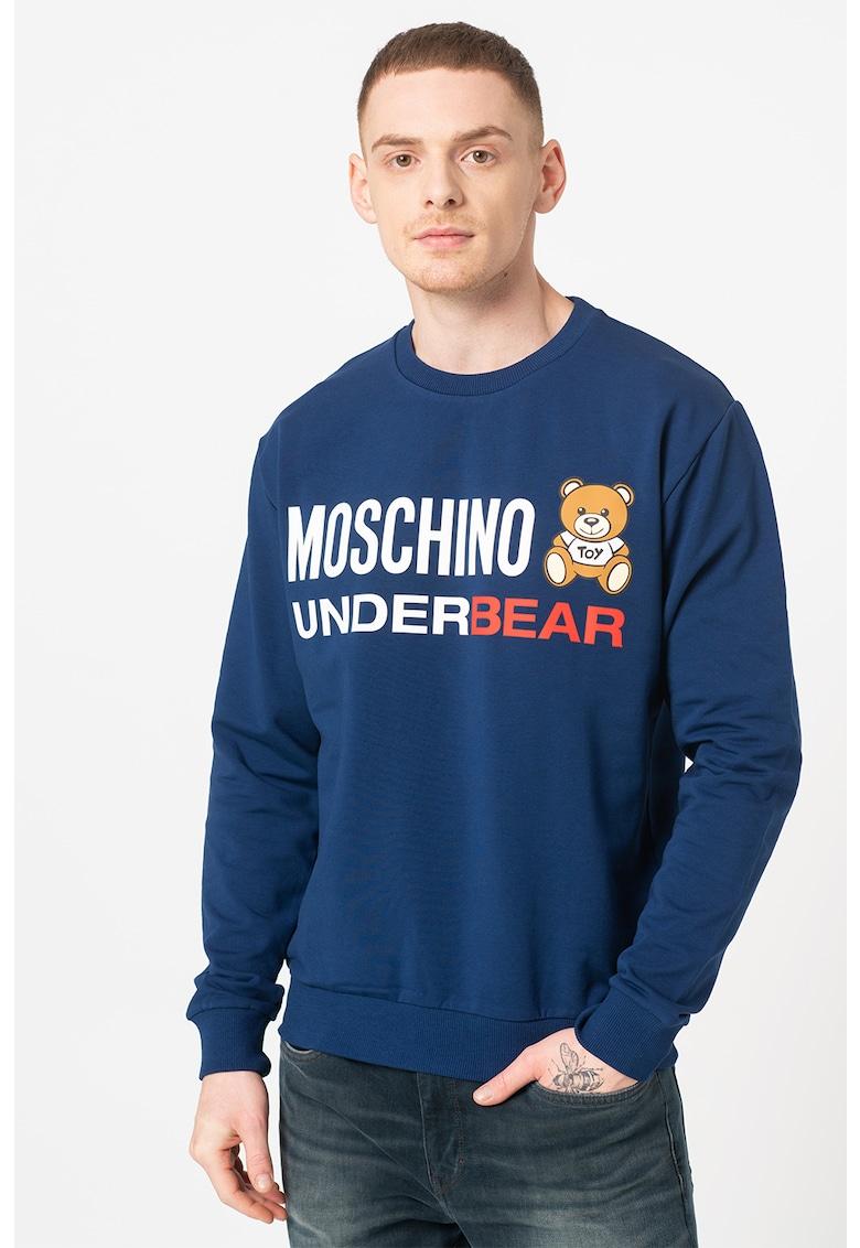 Bluza sport de casa cu imprimeu cu ursulet imagine