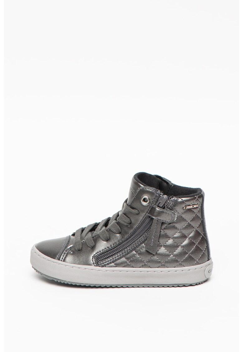Pantofi sport high-top de piele ecologica - cu aspect lacuit Kalispera