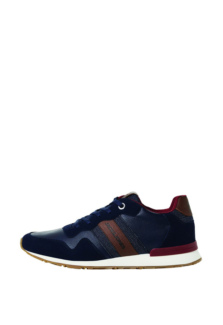 Pantofi sport cu garnituri de denim cu piele ecologica