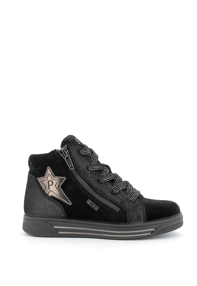 Pantofi sport high-top de piele intoarsa