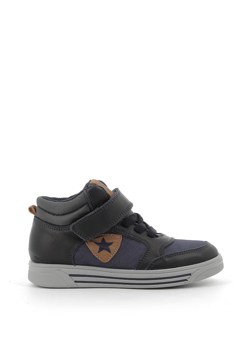Pantofi sport high-top de piele si piele intoarsa ecologica imagine promotie
