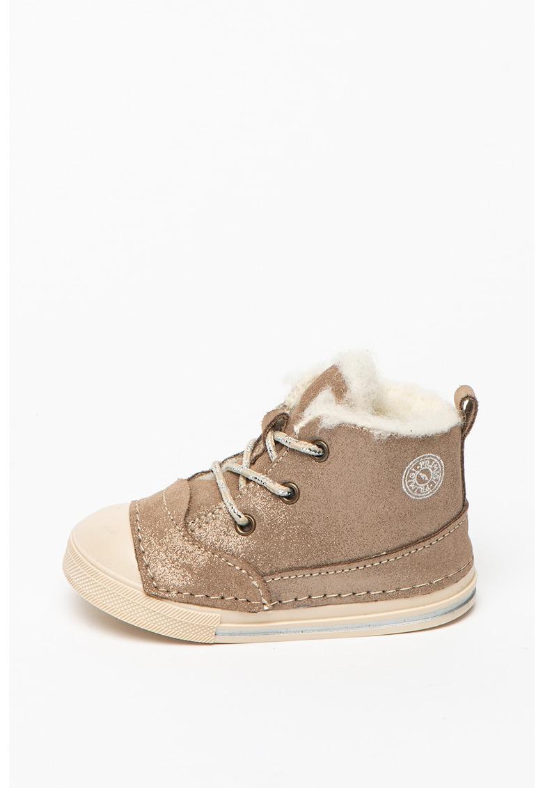 Pantofi sport inalti de piele intoarsa cu captuseala de lana imagine promotie
