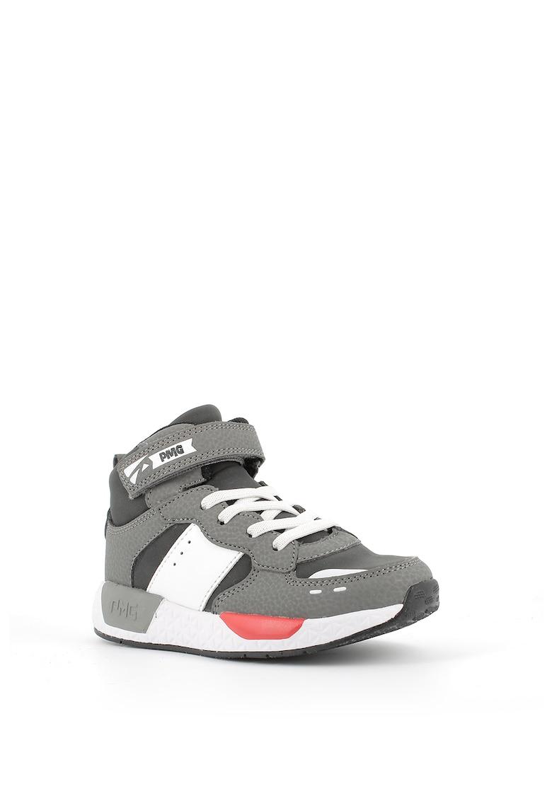 Pantofi sport mid-high de piele ecologica imagine