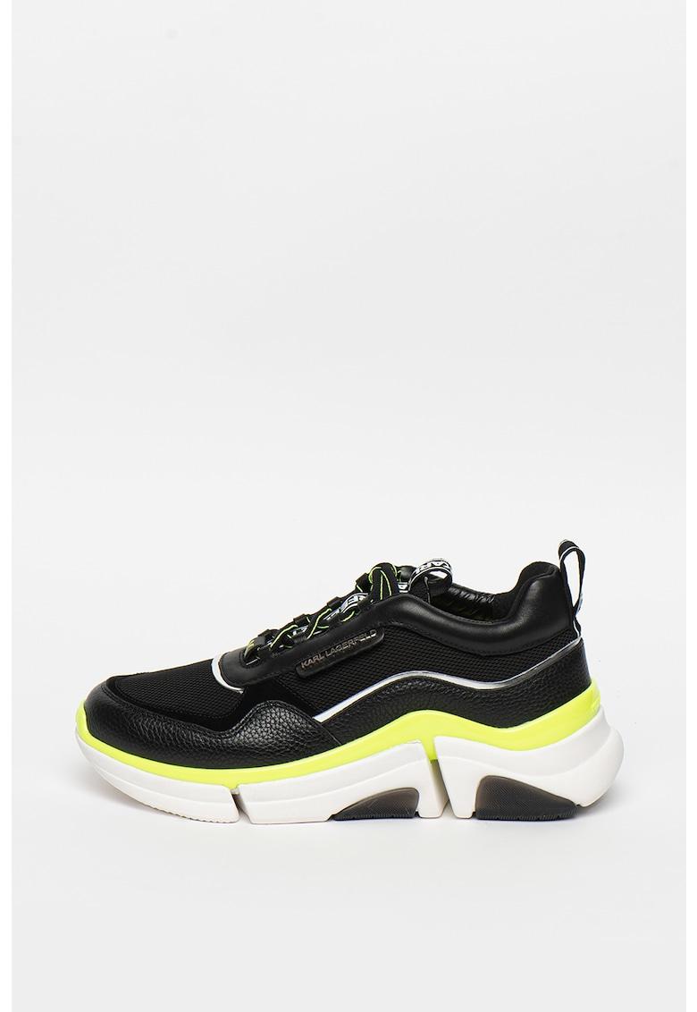 Pantofi sport din piele cu insertii din plasa Venture