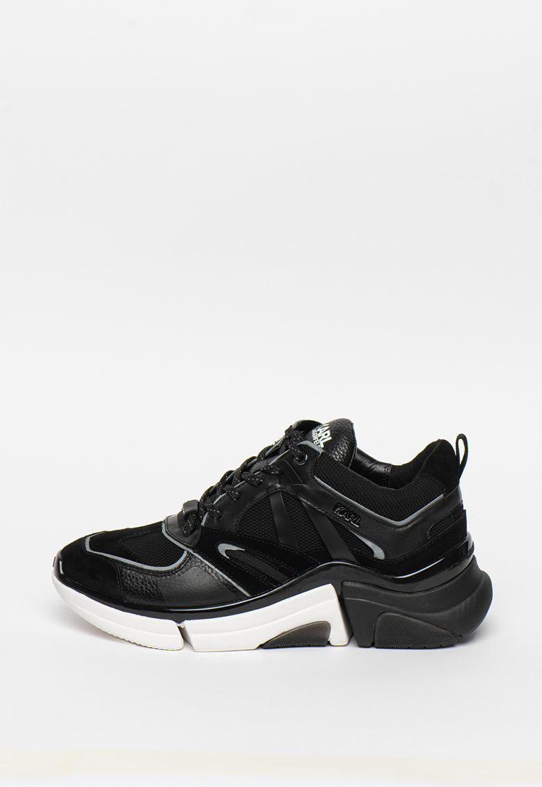 Pantofi sport din piele si material textil Venture imagine