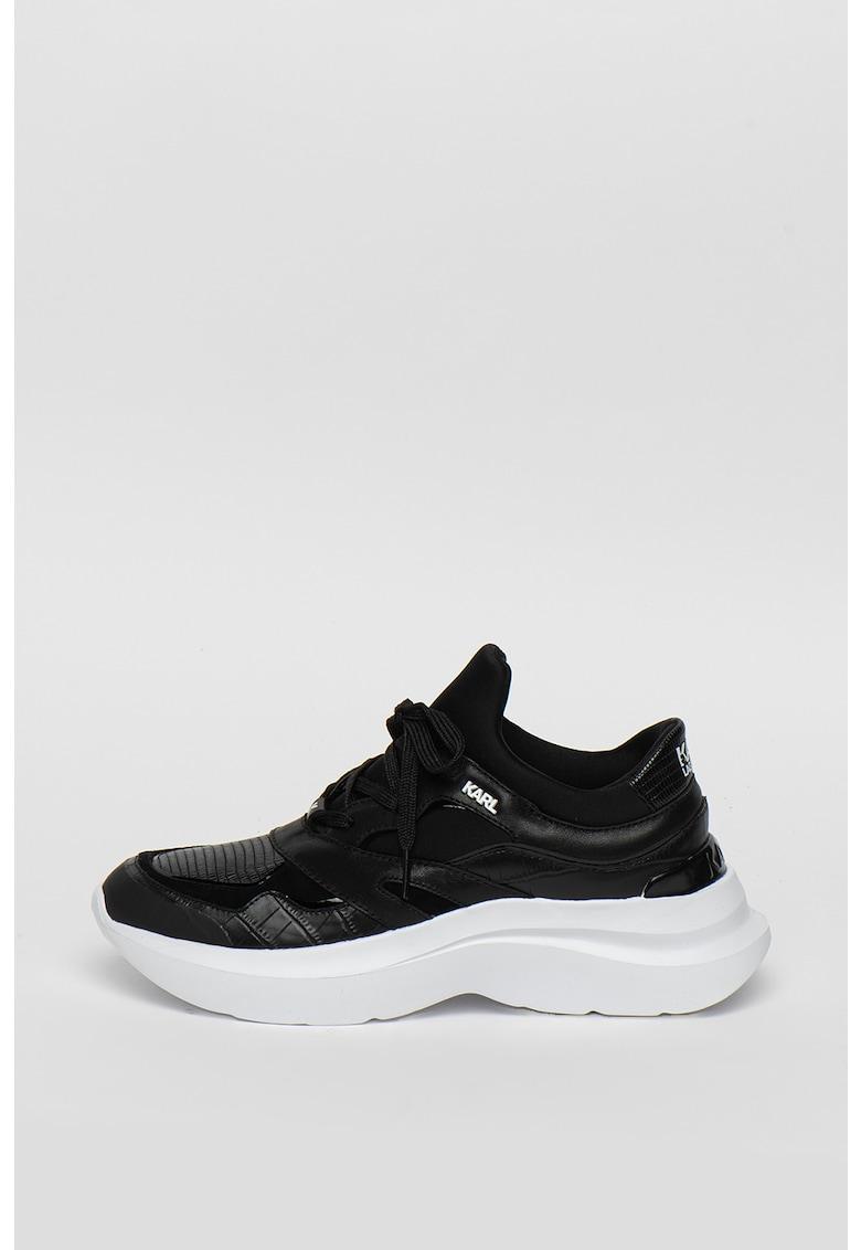 Pantofi sport din piele cu insertii de plasa Delta Lo