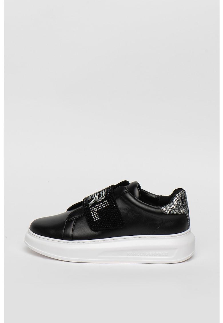 Pantofi sport din piele cu insertii din plasa Kapri