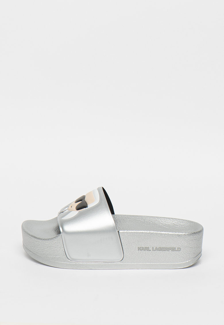Papuci flatform cu aspect metalizat Kondo Maxi imagine fashiondays.ro 2021